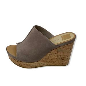 dolce vita Ross suede cork wedge platform sandals